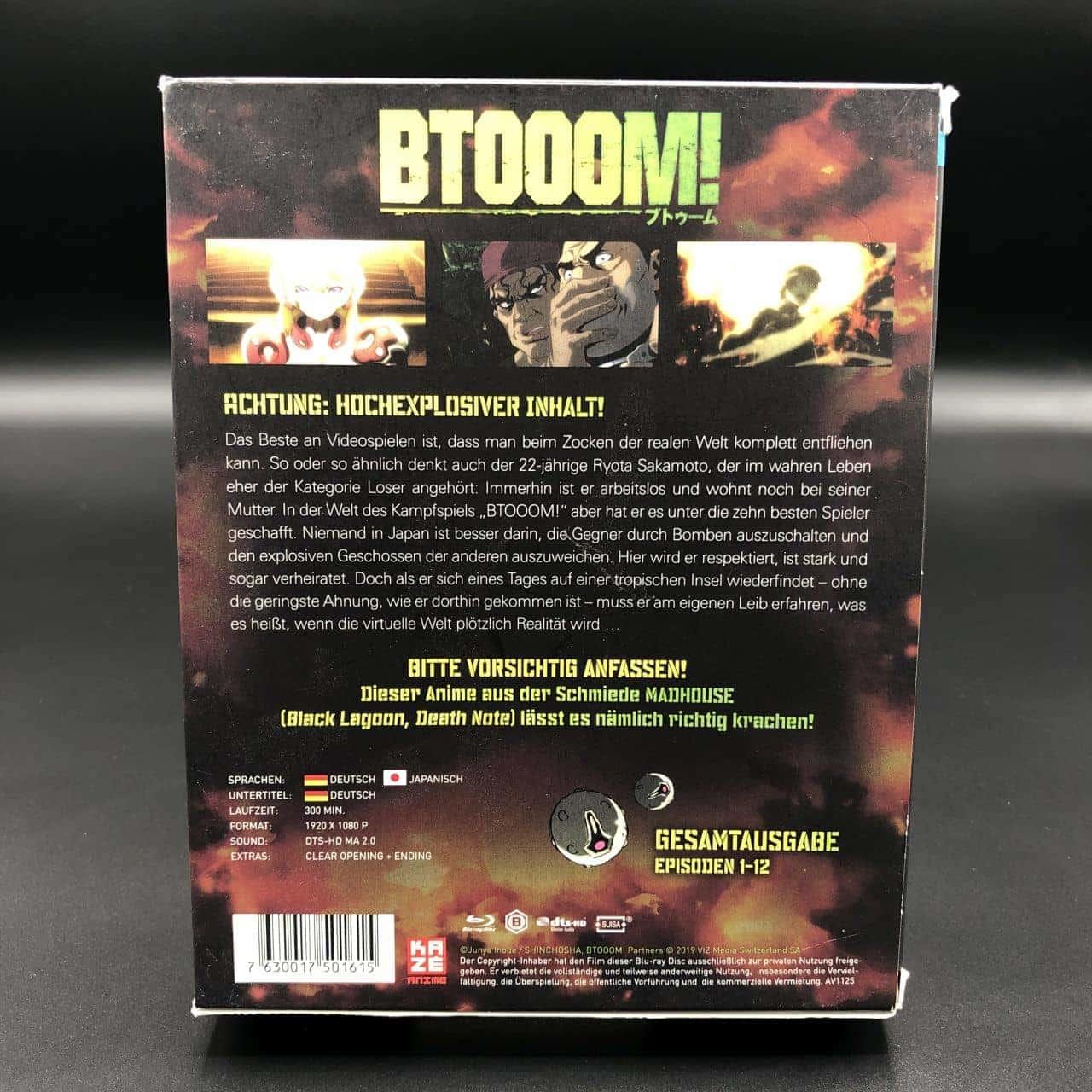 Btooom! (Gesamtausgabe 1-12) (Blu-ray) (Sehr gut) Anime