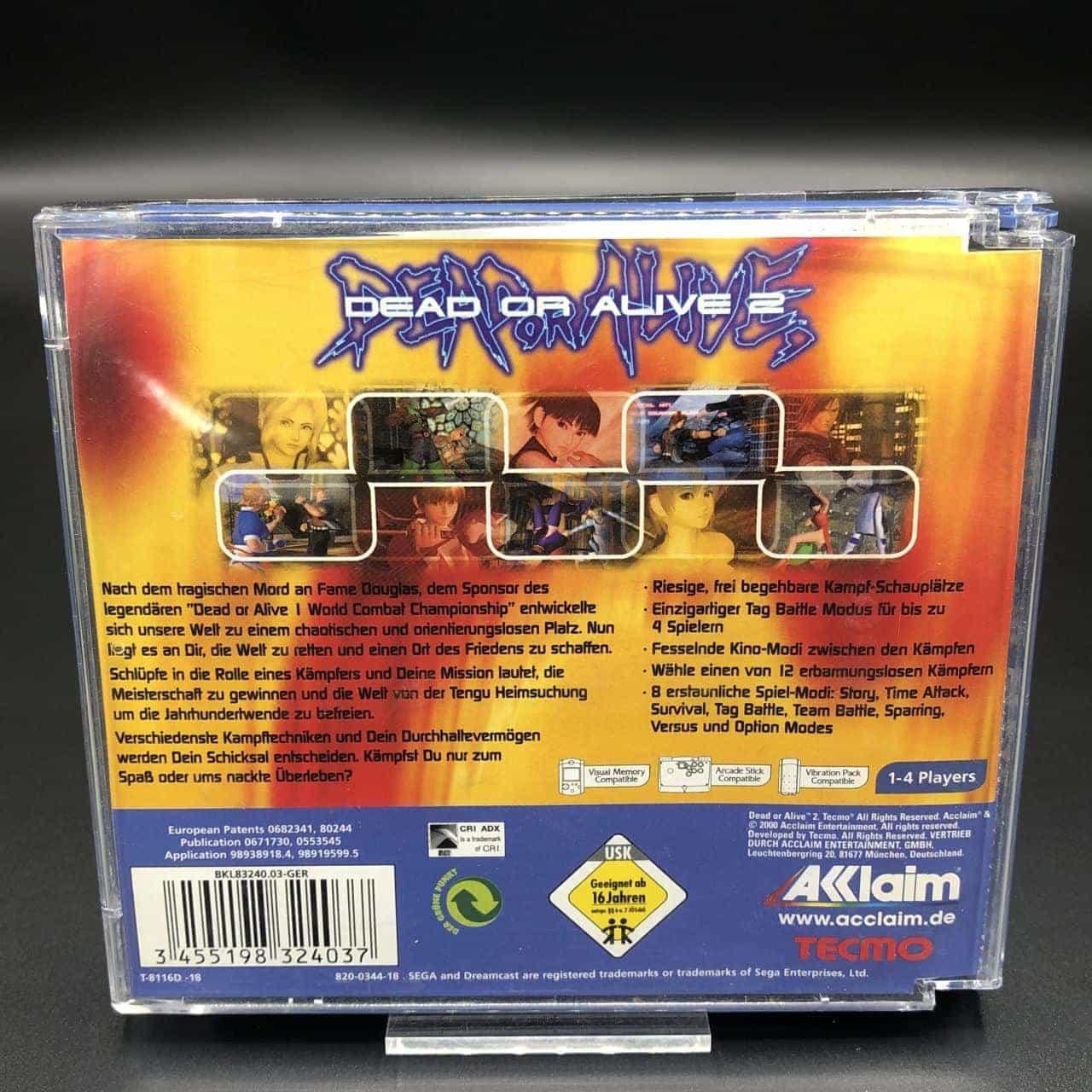 Dead or Alive 2 (Komplett) (Gebrauchsspuren) Sega Dreamcast