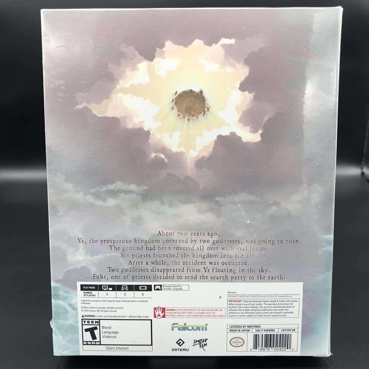 Ys Origin (Import) (Collector's Edition) (NEU) Nintendo Switch