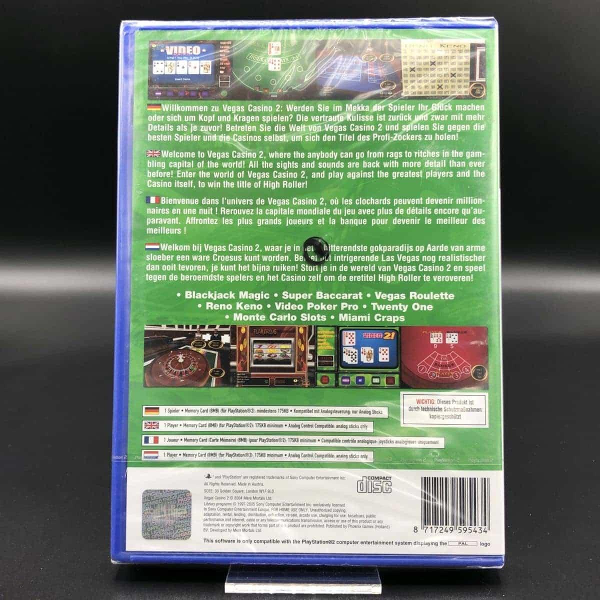 PS2 Vegas Casino 2 (Komplett) (NEU) Sony PlayStation 2