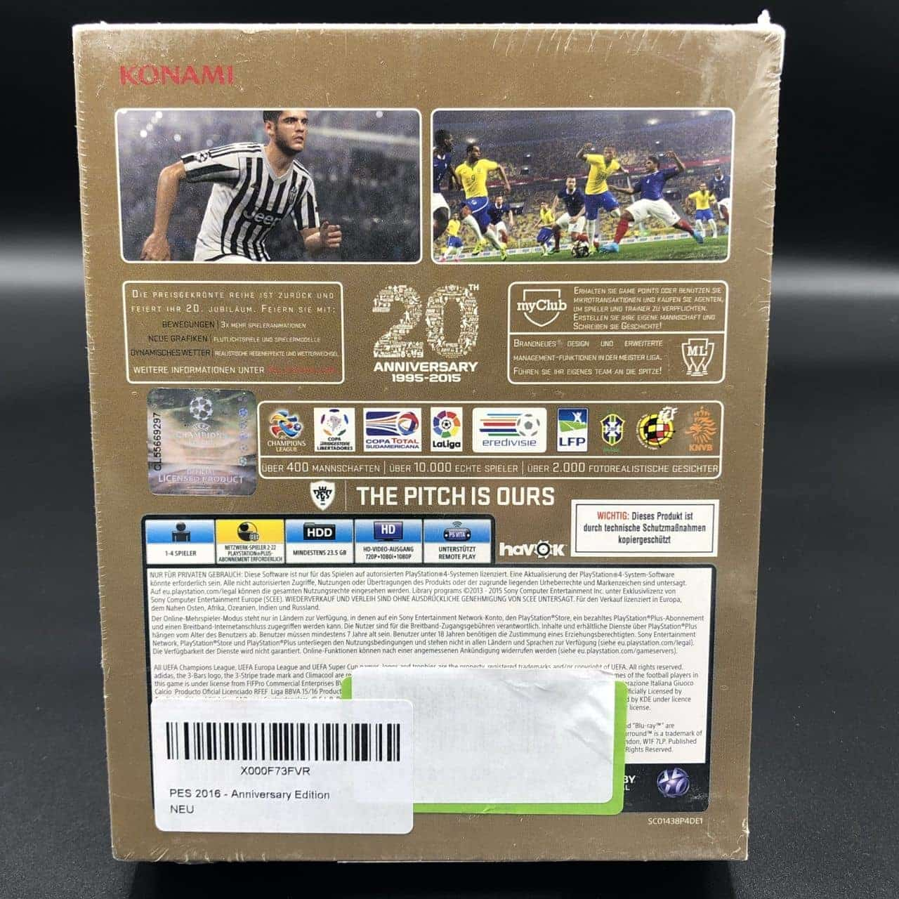 PS4 Pro Evolution Soccer 2016 (Anniversary Edition) (NEU) Sony PlayStation 4