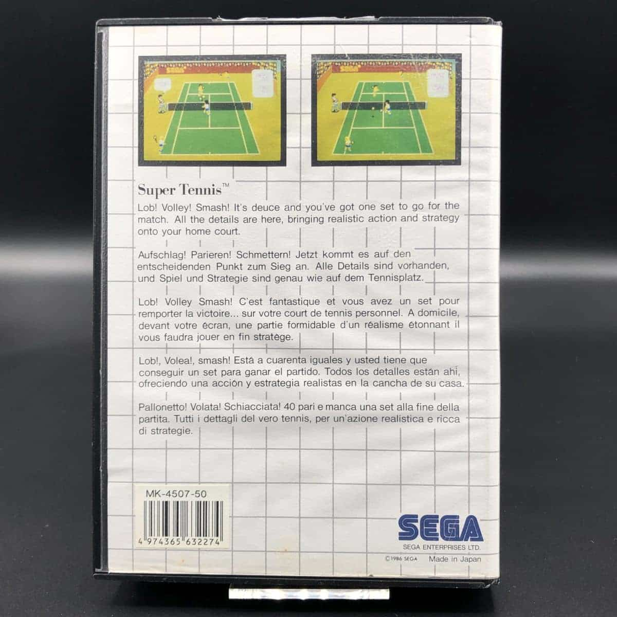 Super Tennis (Komplett) (Gebrauchsspuren) Sega Master System