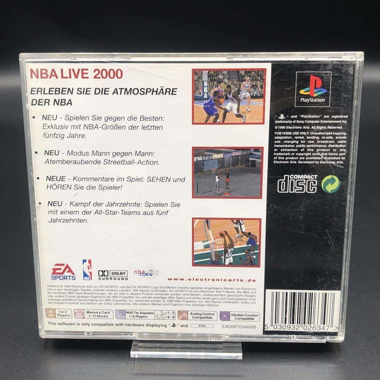 PS1 NBA Live 2000 (Classics) (Komplett) (Gebrauchsspuren) Sony PlayStation 1
