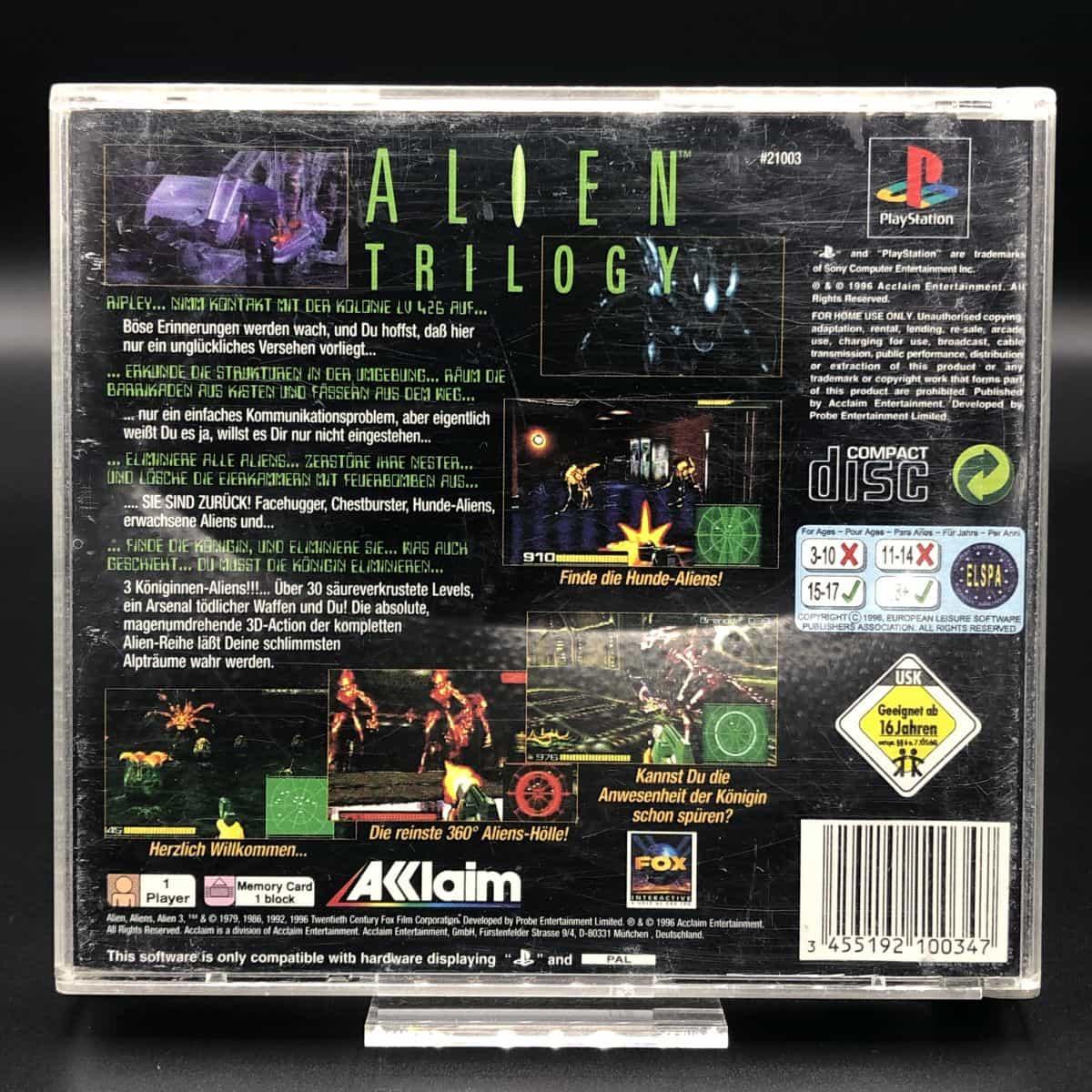 PS1 Alien Trilogy (Komplett) (Gebrauchsspuren) Sony PlayStation 1