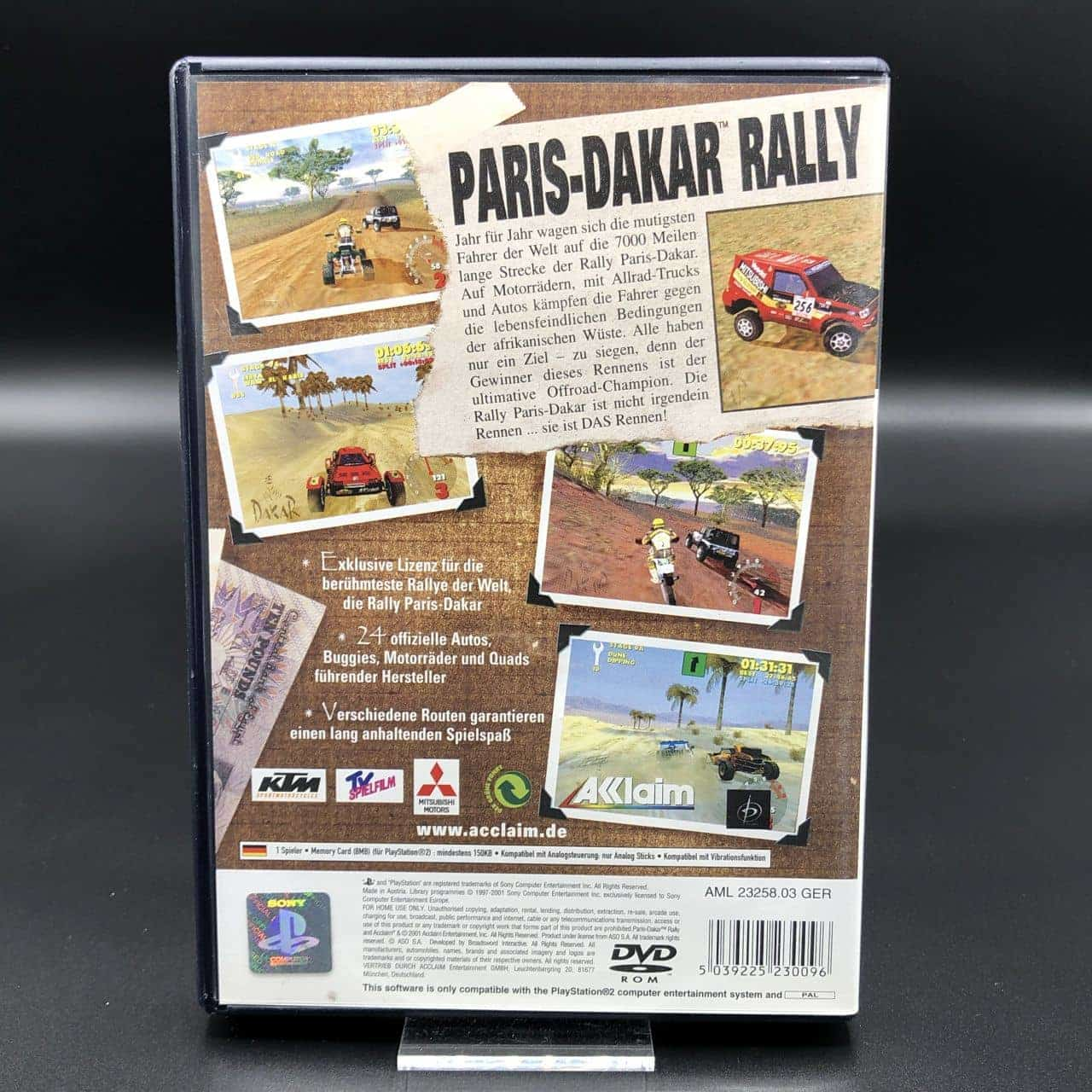 PS2 Paris-Dakar Rally (Komplett) (Gebrauchsspuren) Sony PlayStation 2