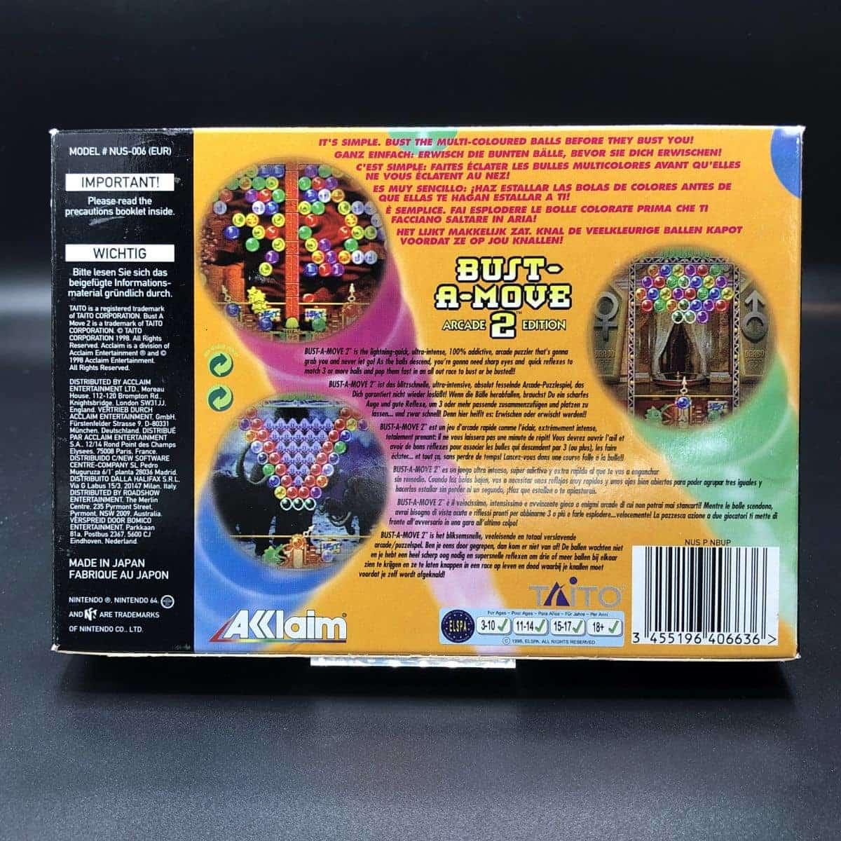 N64 Bust-A-Move 2: Arcade Edition (Komplett) (Sehr gut) Nintendo 64