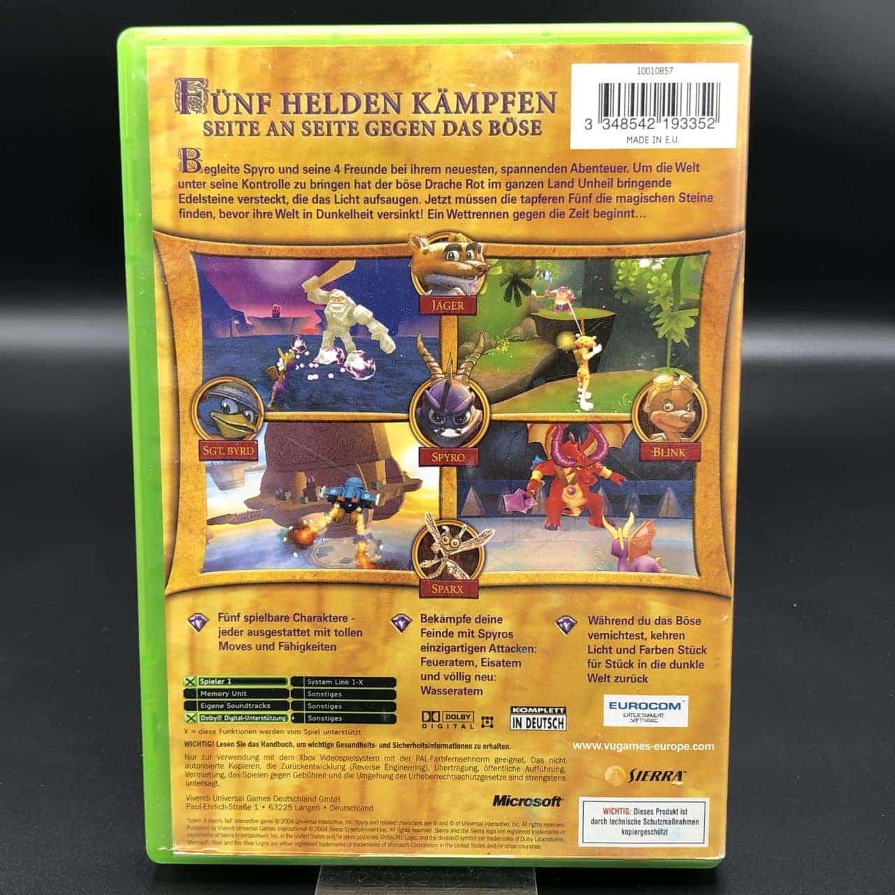 XBC Spyro: A Hero's Tail (Komplett) (Gut) Microsoft Xbox Classic