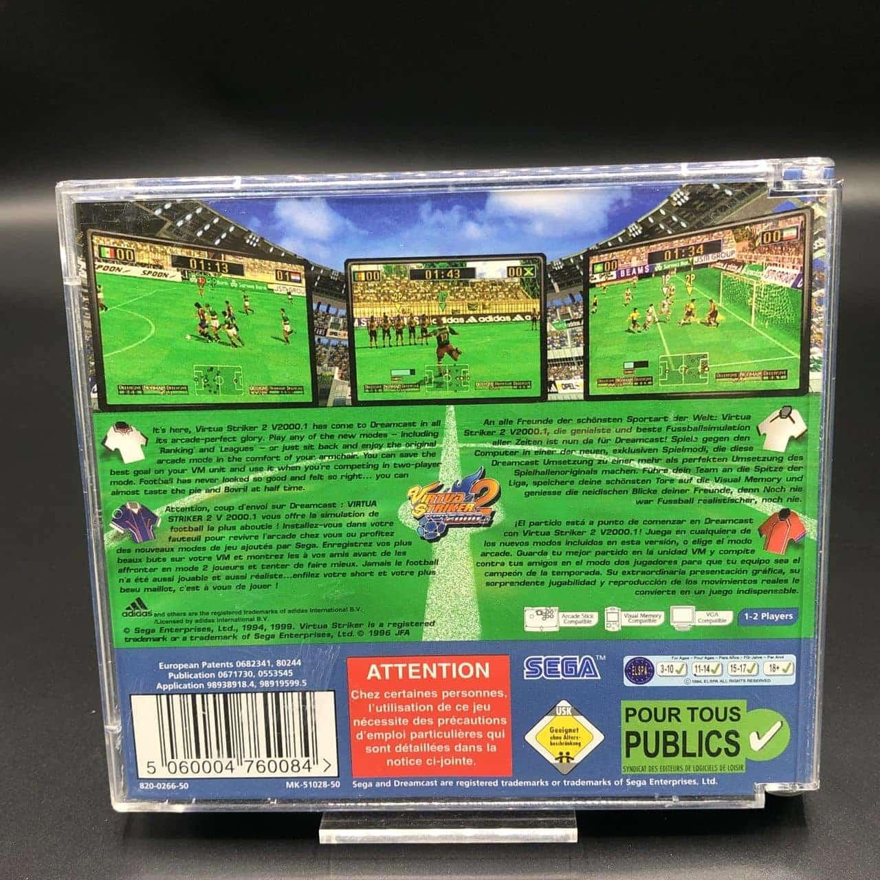 Virtua Striker 2 ver 2000.1 (Komplett) (Gut) Sega Dreamcast