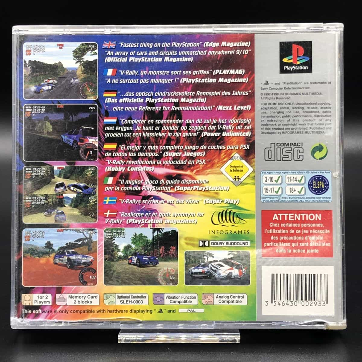 PS1 V-Rally (Platinum) (Komplett) (Gut) Sony PlayStation 1