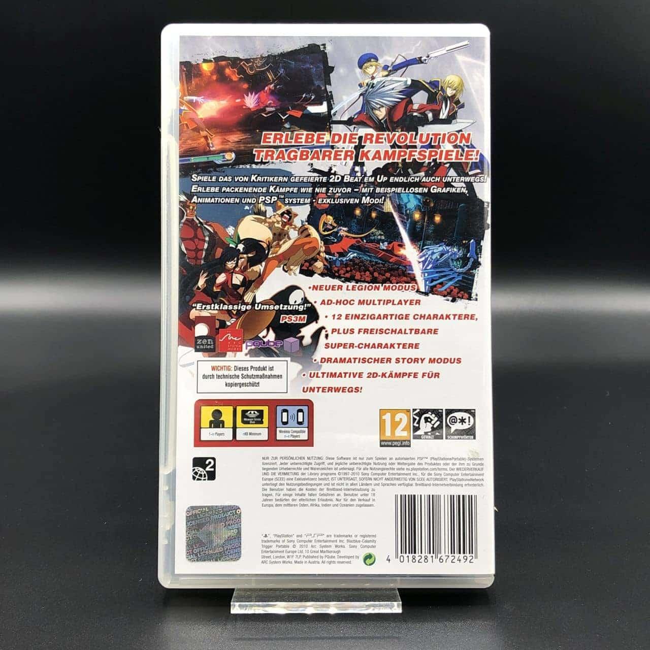 PSP BlazBlue: Calamity Trigger Portable (Komplett) (Sehr gut) Sony PlayStation Portable