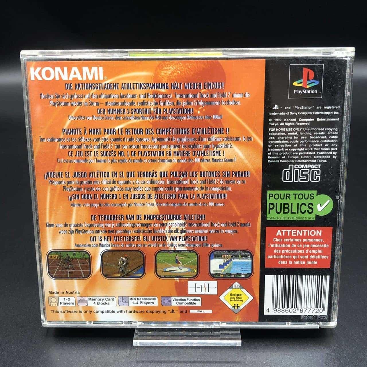 PS1 International Track & Field 2 (Komplett) (Gebrauchsspuren) Sony PlayStation 1