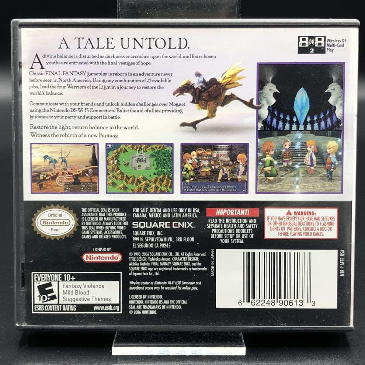 Final Fantasy III (Import) (Komplett) (Sehr gut) Nintendo DS