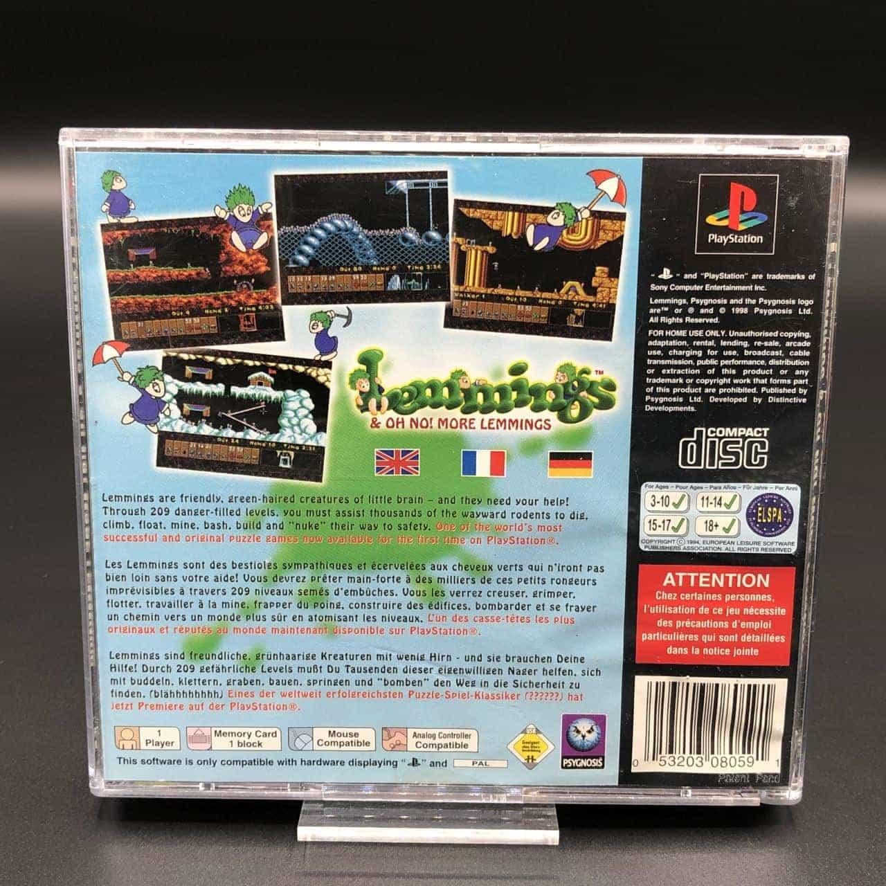 PS1 Lemmings: Oh no! More Lemmings (Komplett) (Gut) Sony PlayStation 1