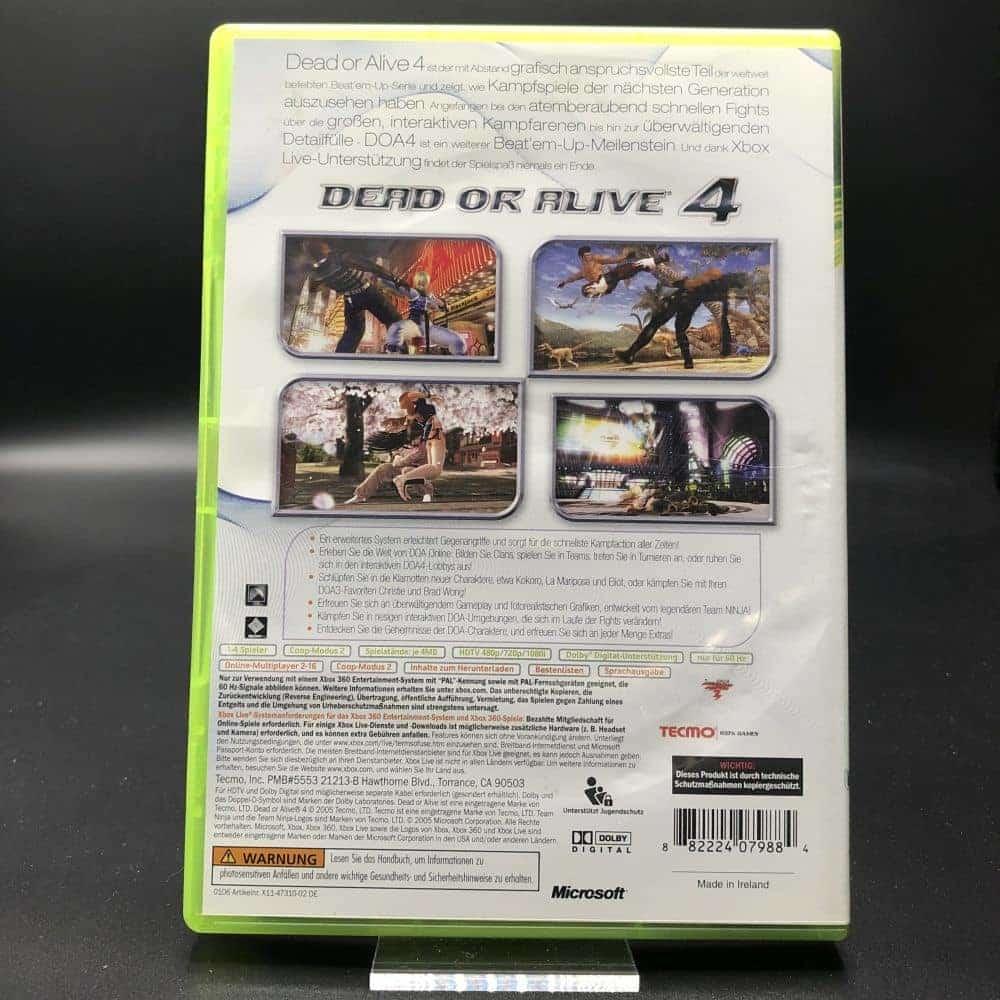 Dead or Alive 4 (Komplett) (Gut) XBOX 360