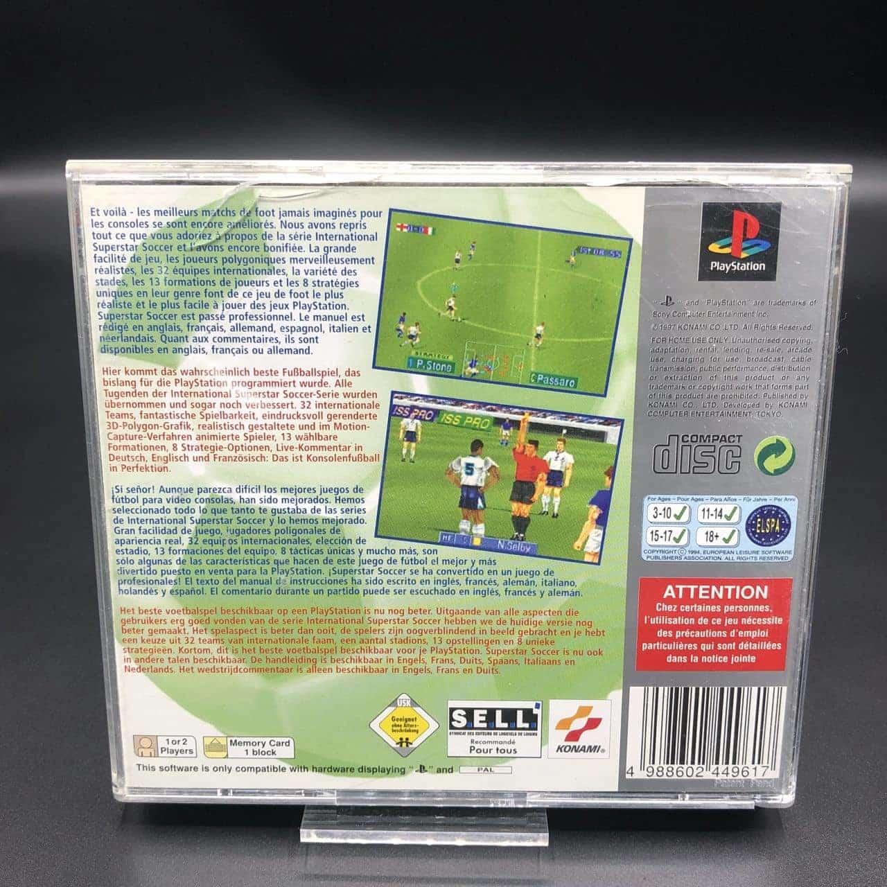 PS1 International Superstar Soccer Pro (Platinum) (Komplett) (Gut) Sony PlayStation 1