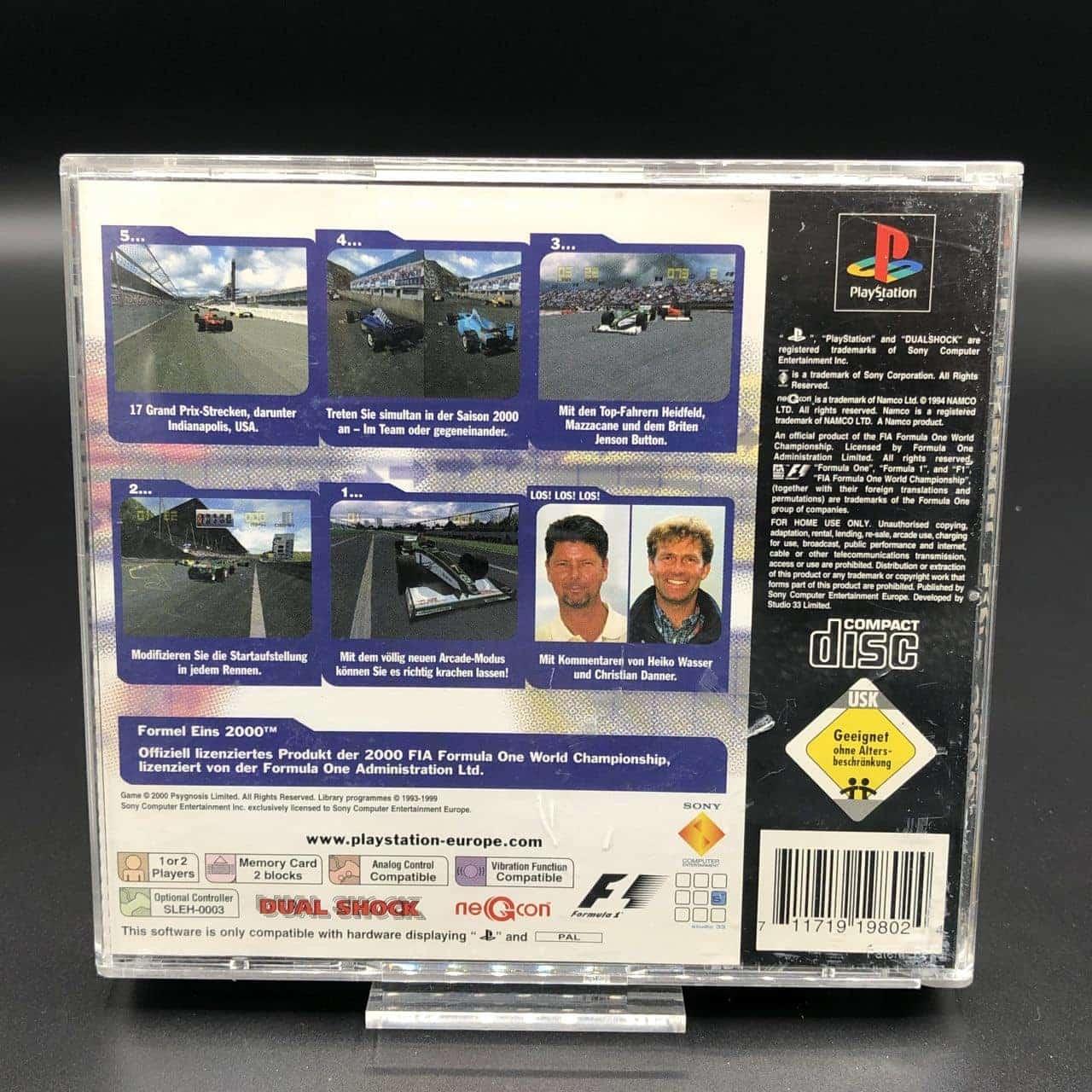 PS1 Formel Eins 2000 (Komplett) (Gebrauchsspuren) Sony PlayStation 1