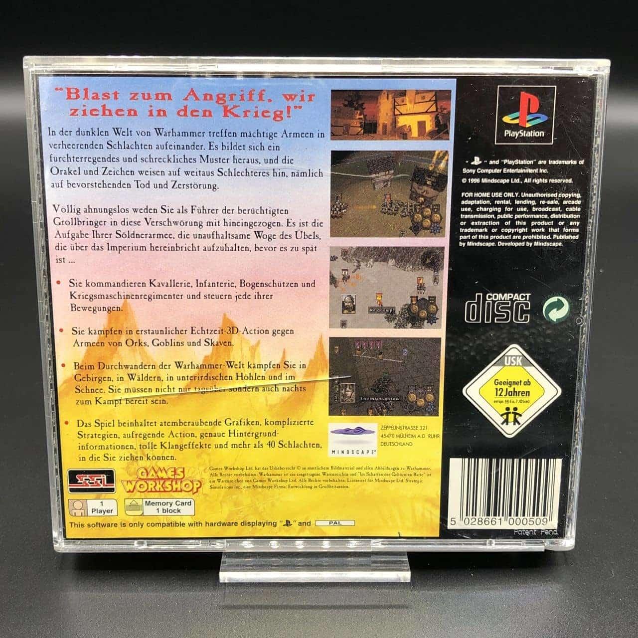 PS1 Warhammer: Im Schatten der gehörnten Ratte (Komplett) (Gut) Sony PlayStation 1
