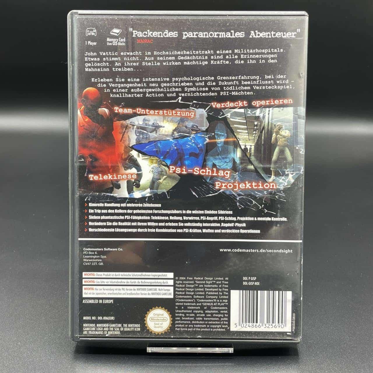 GC Second Sight (Komplett) (Gebrauchsspuren) Nintendo Gamecube