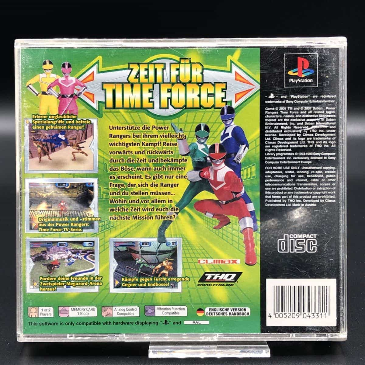 PS1 Power Rangers Time Force (Komplett) (Gut) Sony PlayStation 1