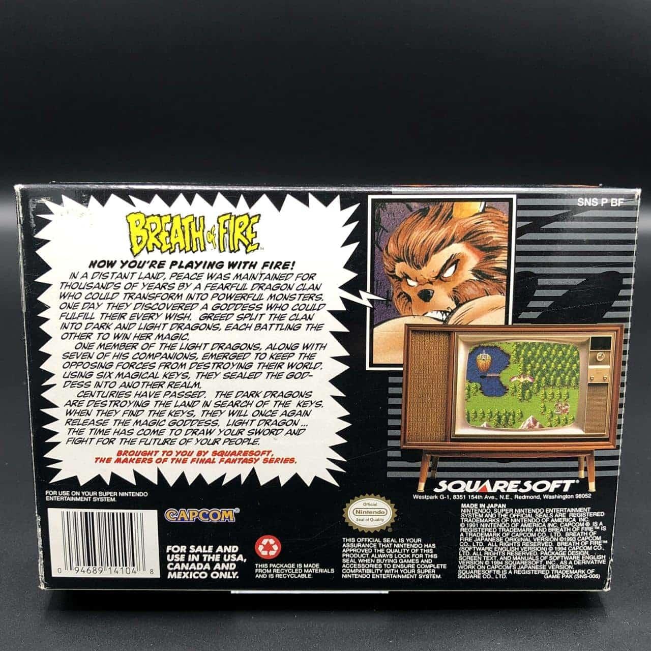 SNES Breath of Fire (NTSC USA) (Komplett) (Sehr gut) Super Nintendo