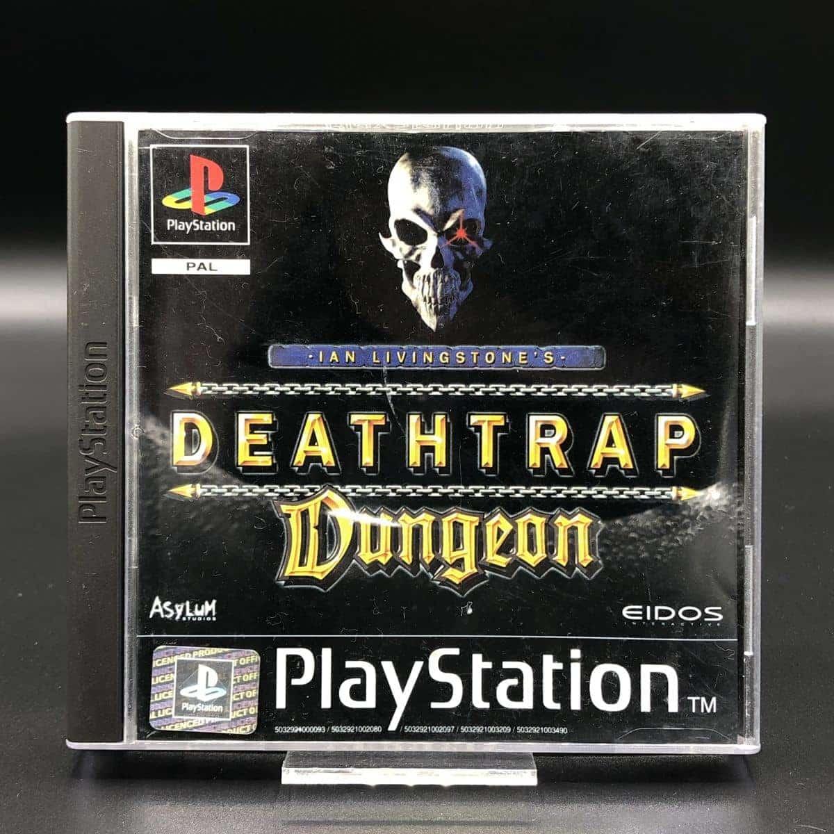 PS1 Deathtrap Dungeon (ohne Anleitung) (Gebrauchsspuren) Sony PlayStation 1 (FSK18)