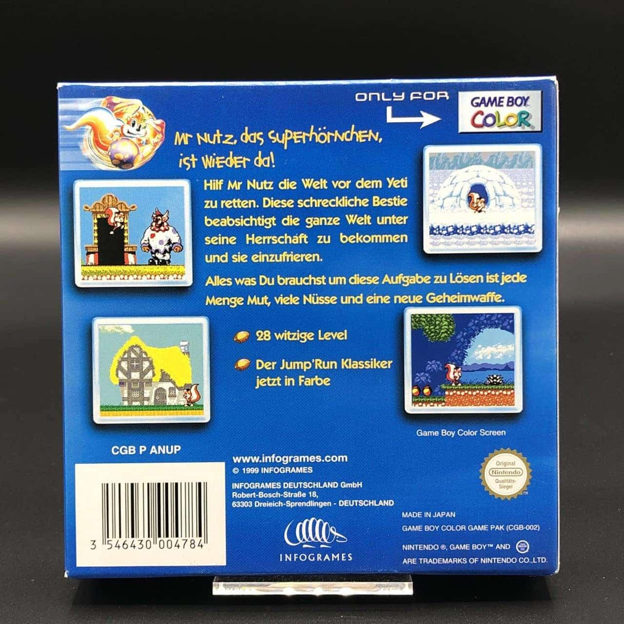 GBC Mr. Nutz (ohne Anleitung) (Sehr gut) Nintendo Game Boy Color