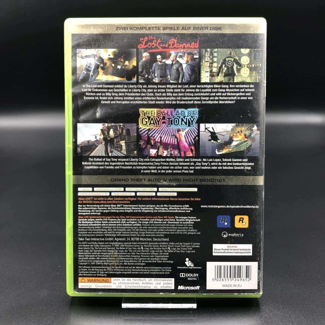 Grand Theft Auto: Episodes from Liberty City (Komplett) (Gebrauchsspuren) XBOX 360 (FSK18)