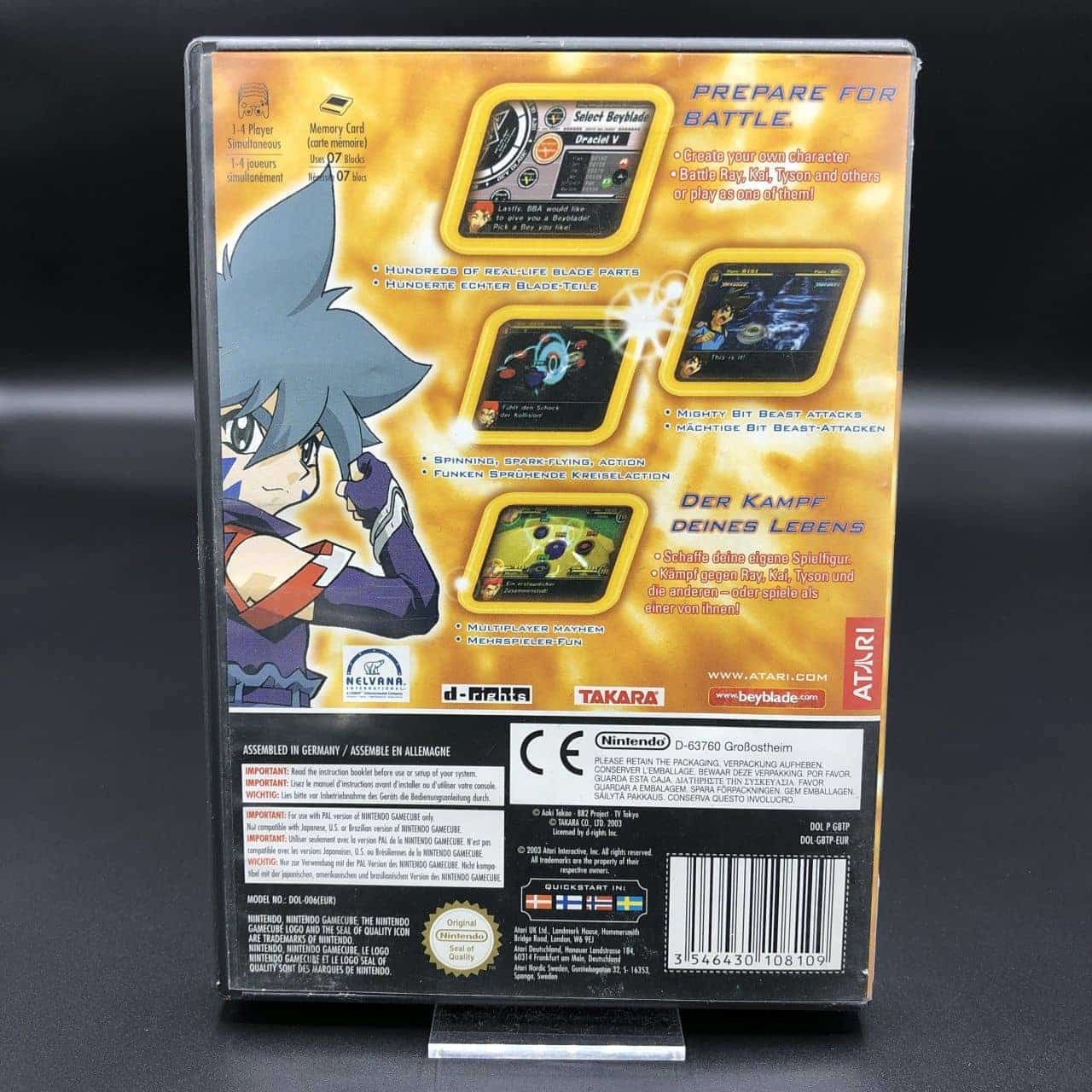 GC Beyblade VForce: Super Tournament Battle (Komplett) (Gebrauchsspuren) Nintendo GameCube