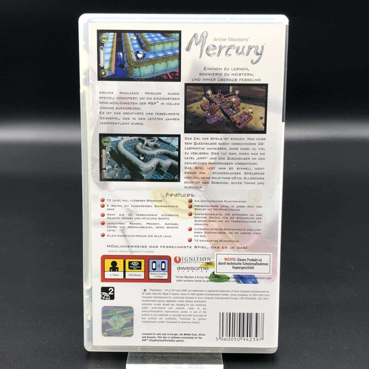 PSP Archer Macleans Mercury (Komplett) (Sehr gut) Sony PlayStation Portable