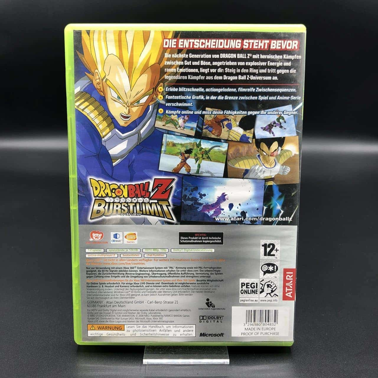 Dragon Ball Z: Burst Limit (ohne Anleitung) (Gebrauchsspuren) Xbox 360
