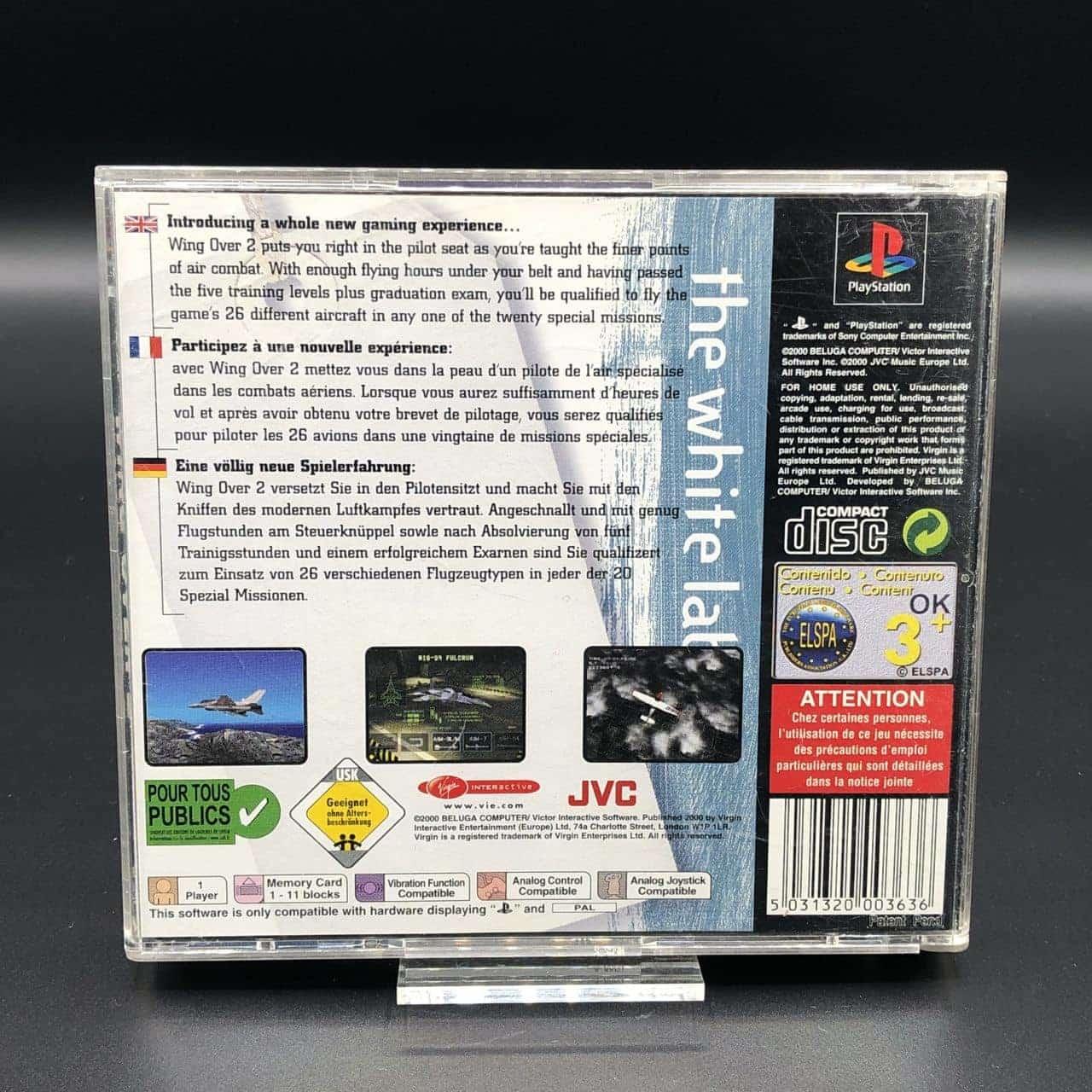 PS1 Wing Over 2 (Value Series) (Komplett) (Gebrauchsspuren) Sony PlayStation 1