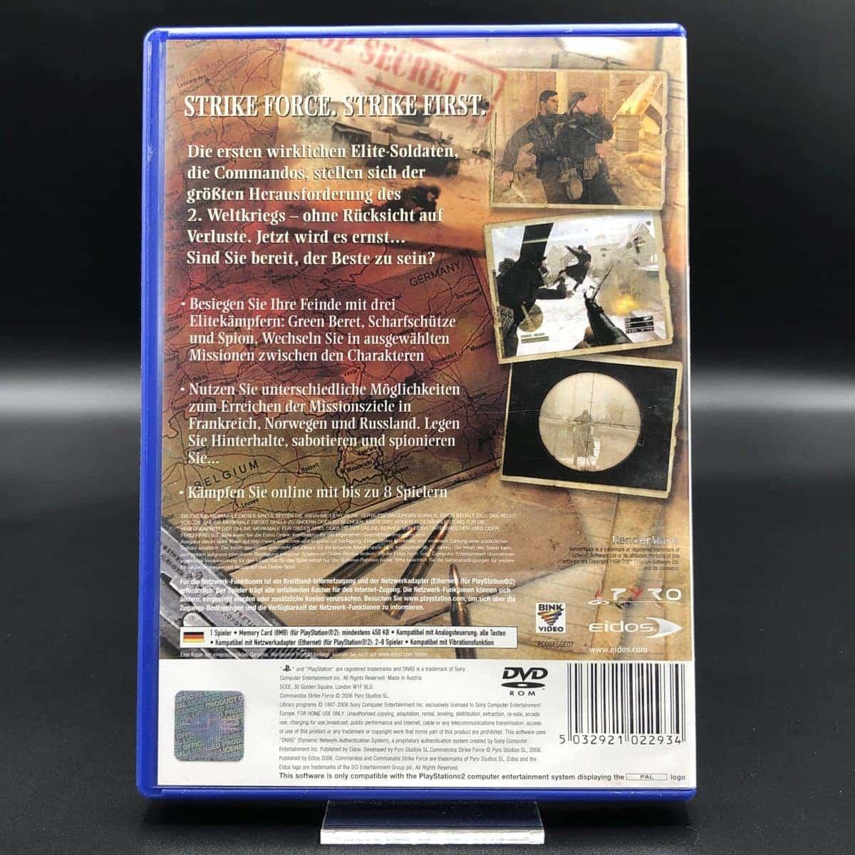 PS2 Commandos: Strike Force (Komplett) (Sehr gut) Sony PlayStation 2 (FSK18)