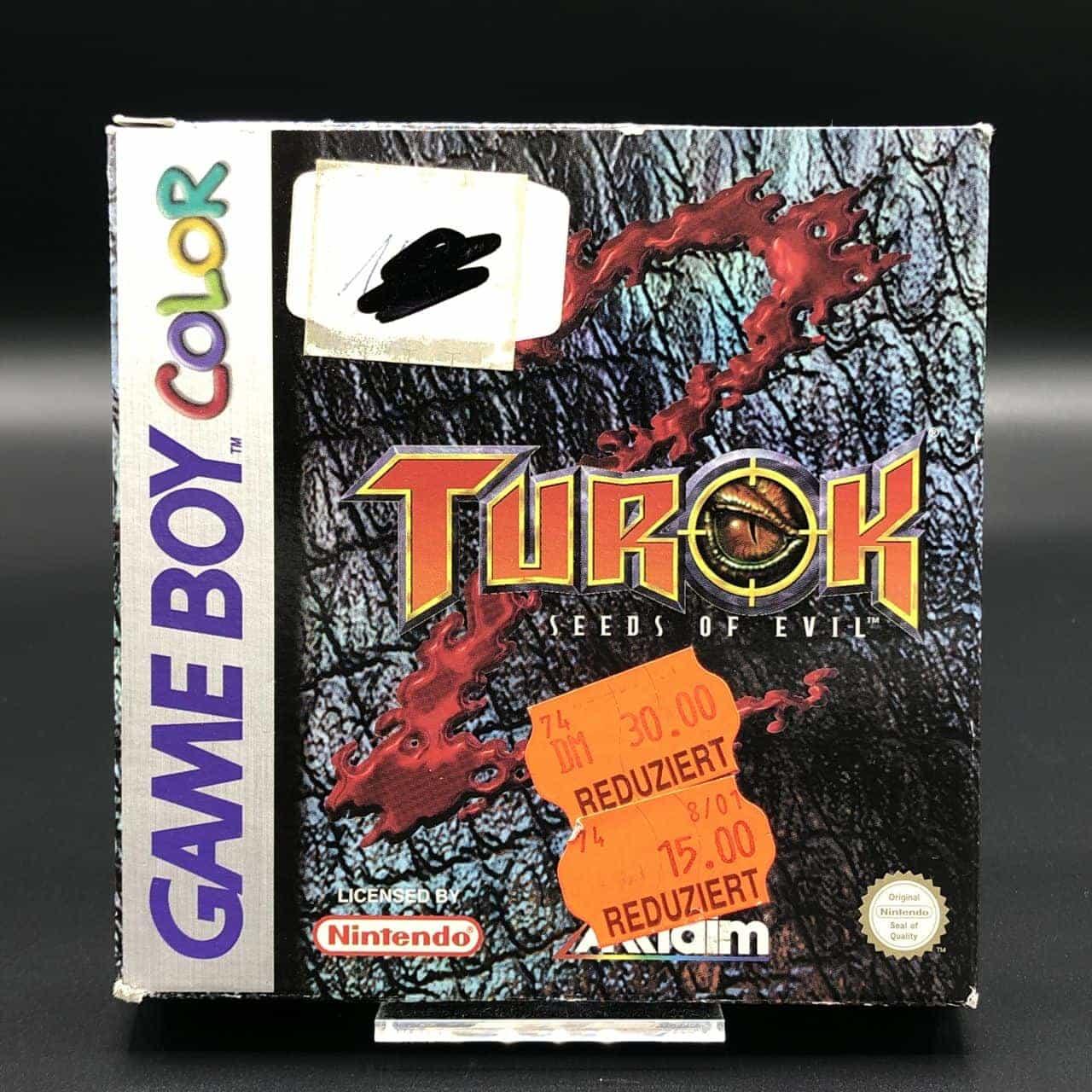 GBC Turok 2: Seeds of Evil (ohne Anleitung, ohne Inlay) (Gebrauchsspuren) Nintendo Game Boy Color