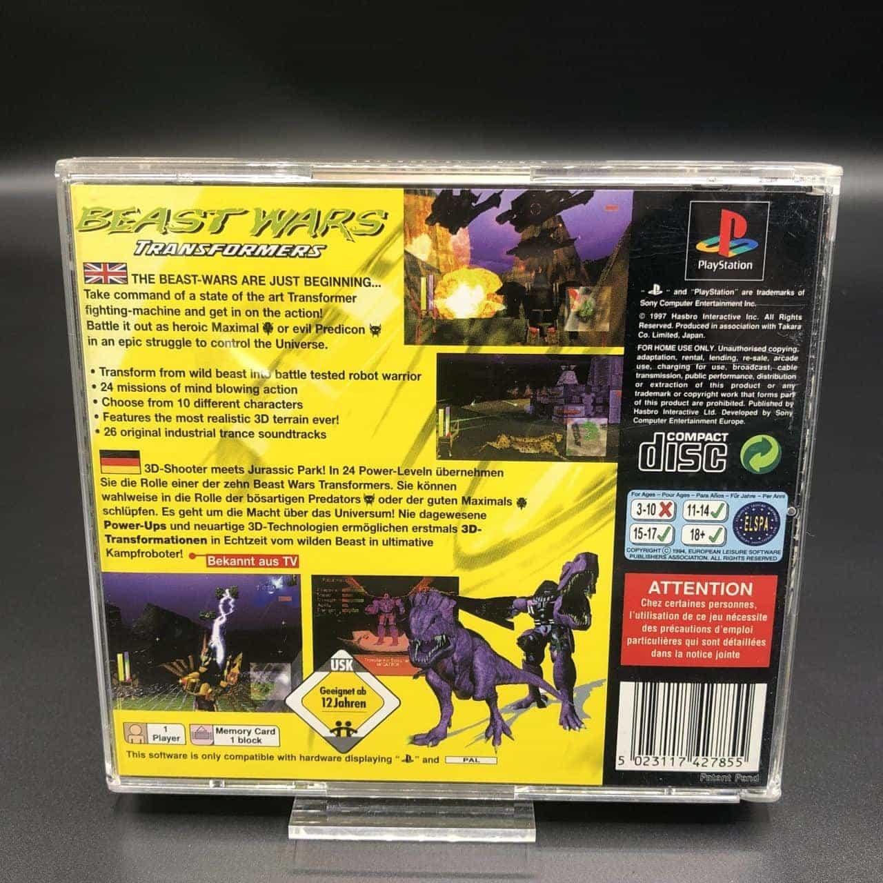 PS1 Beast Wars: Transformers (Komplett) (Sehr gut) Sony PlayStation 1