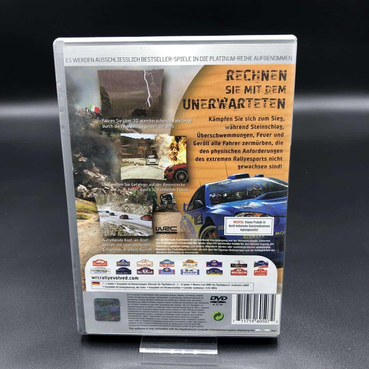 PS2 WRC: Rally Evolved (Platinum) (Komplett) (Gebrauchsspuren) Sony PlayStation 2