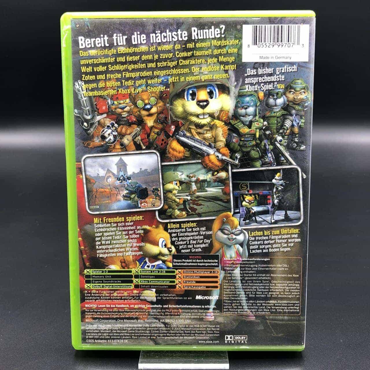XBC Conker: Live & Reloaded (Komplett) (Gut) Microsoft Xbox Classic