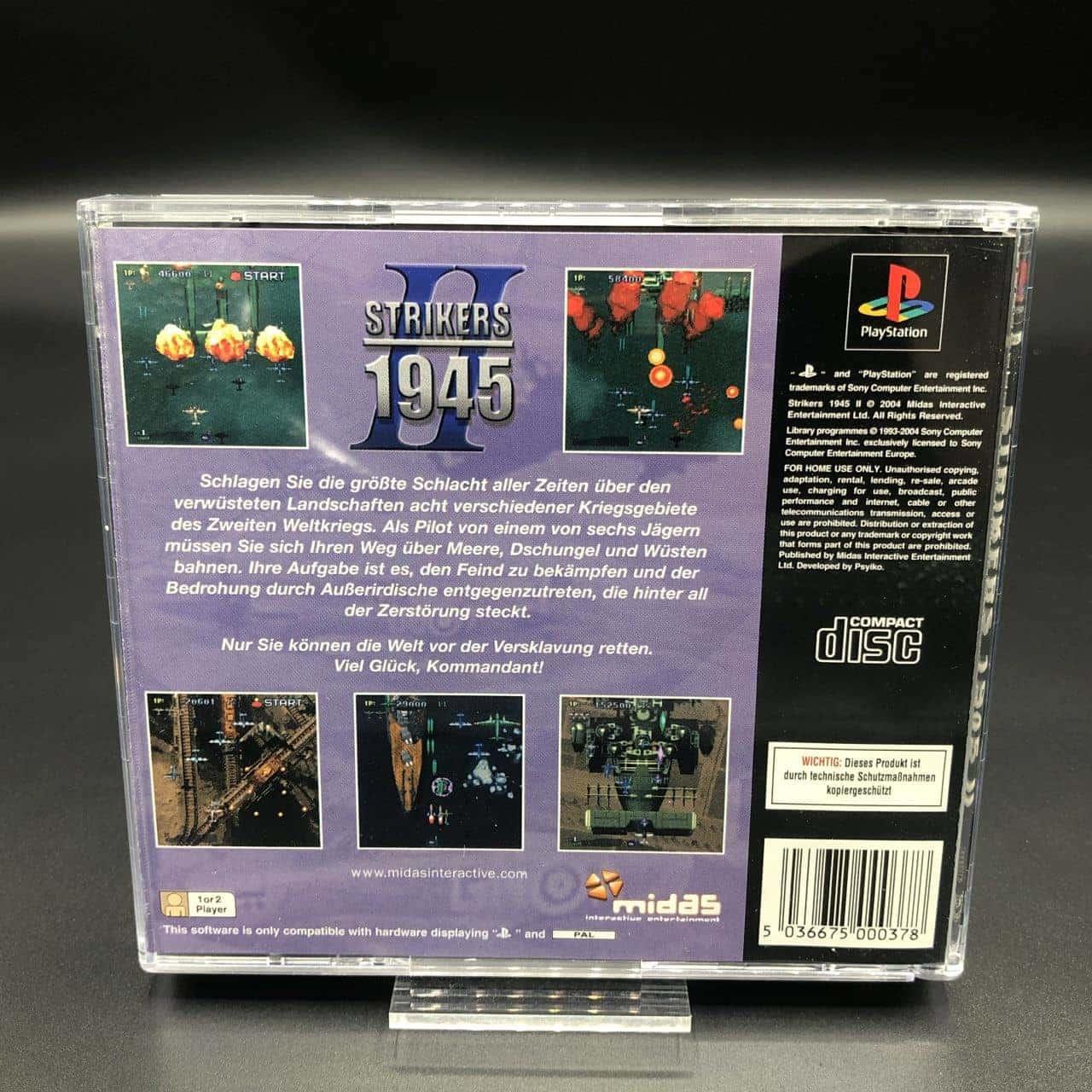PS1 Strikers 1945 II (Komplett) (Gebrauchsspuren) Sony PlayStation 1