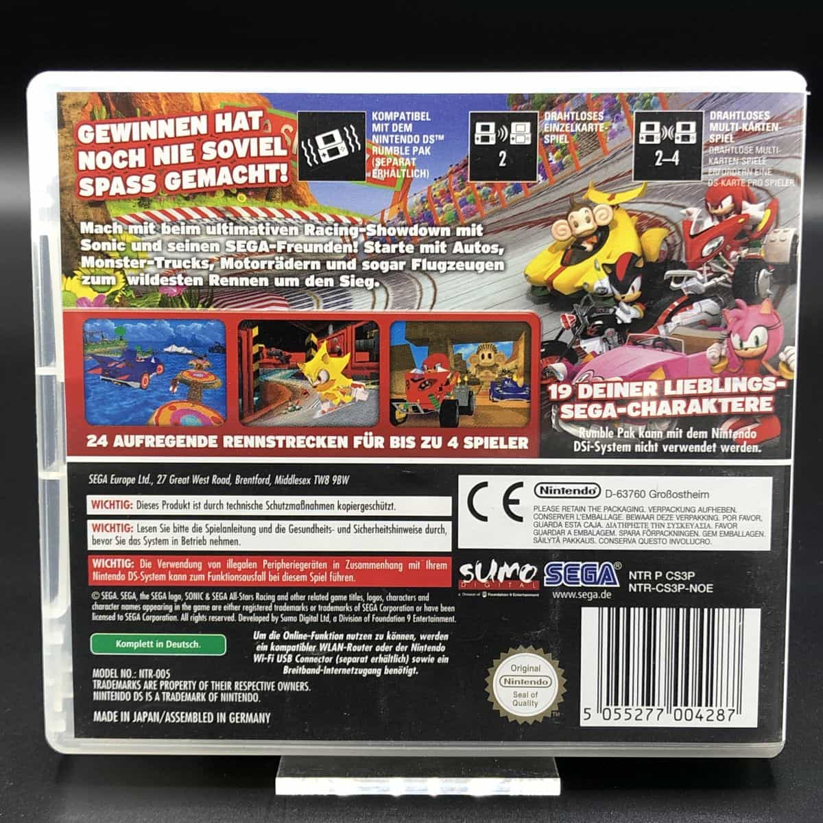 Sonic & Sega All-Stars Racing (ohne Anleitung) (Sehr gut) Nintendo DS