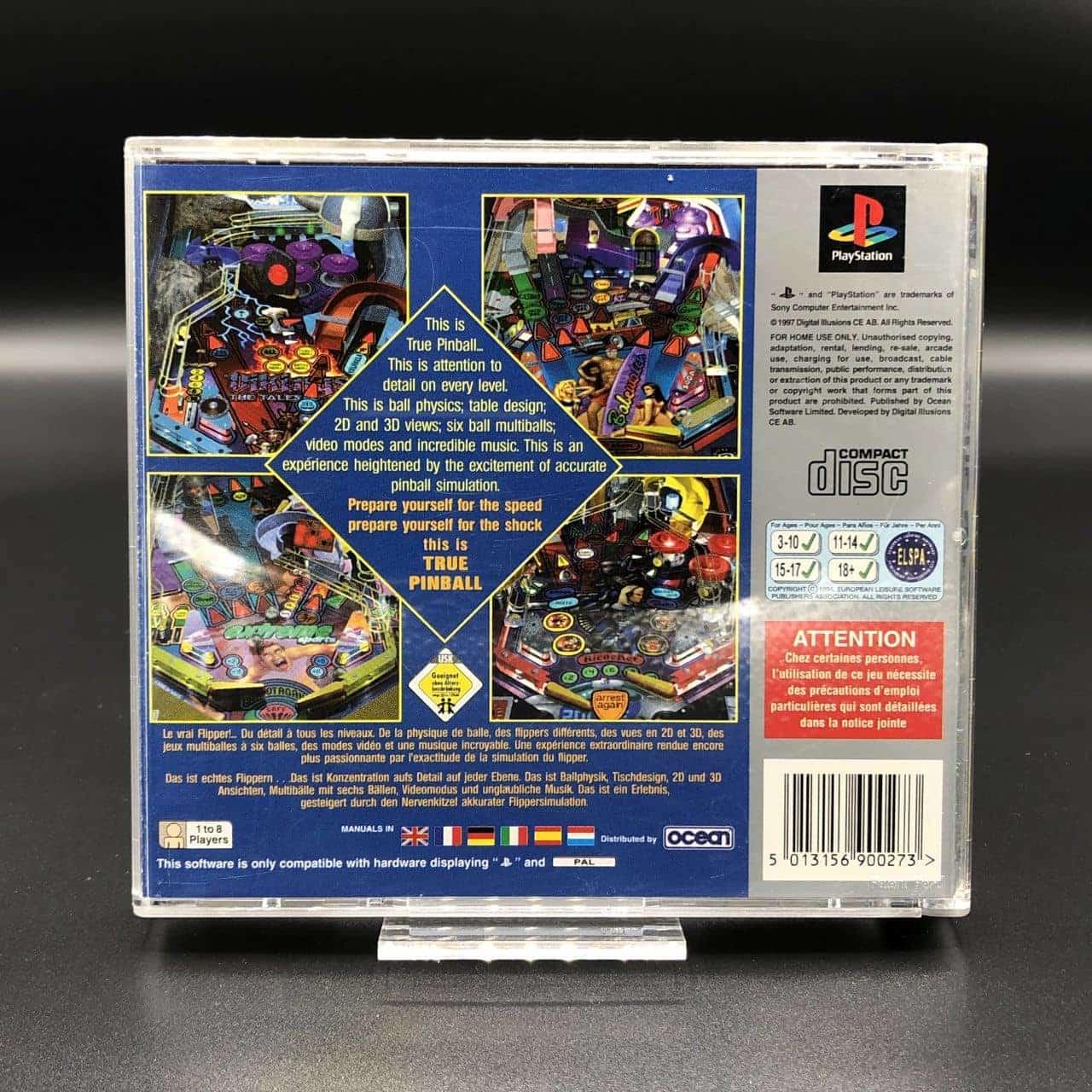 PS1 True Pinball (Platinum) (Komplett) (Sehr gut) Sony PlayStation 1