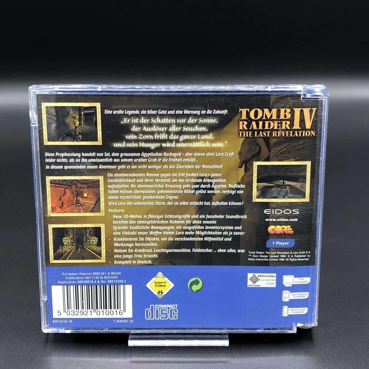 Tomb Raider IV: The Last Revelation (Komplett) (Gut) Sega Dreamcast