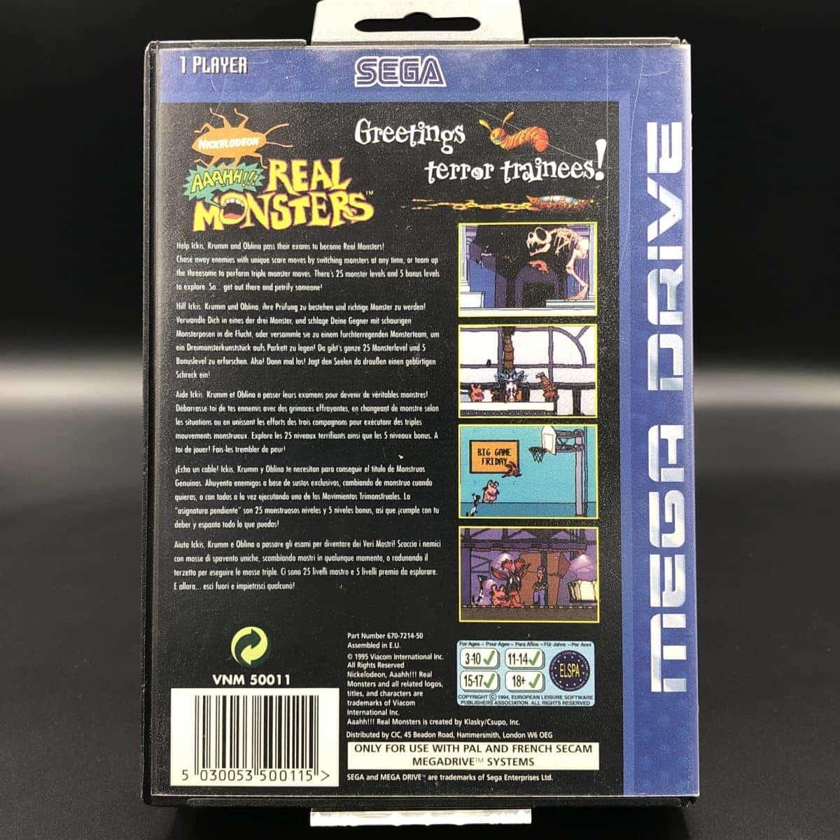 Aaahh!!! Real Monsters (ohne Anleitung) (Sehr gut) Sega Mega Drive