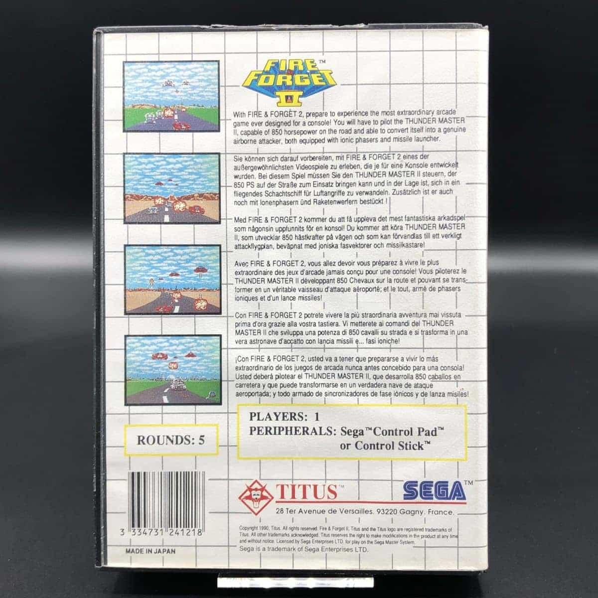 Fire & Forget II (Komplett) (Gut) Sega Master System