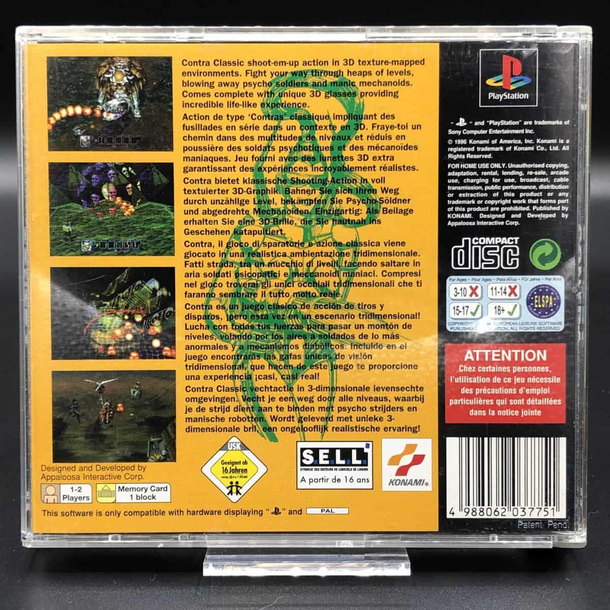 PS1 Contra: Legacy of War (mit Anleitung, ohne 3D-Brille) (Gebrauchsspuren) Sony PlayStation 1
