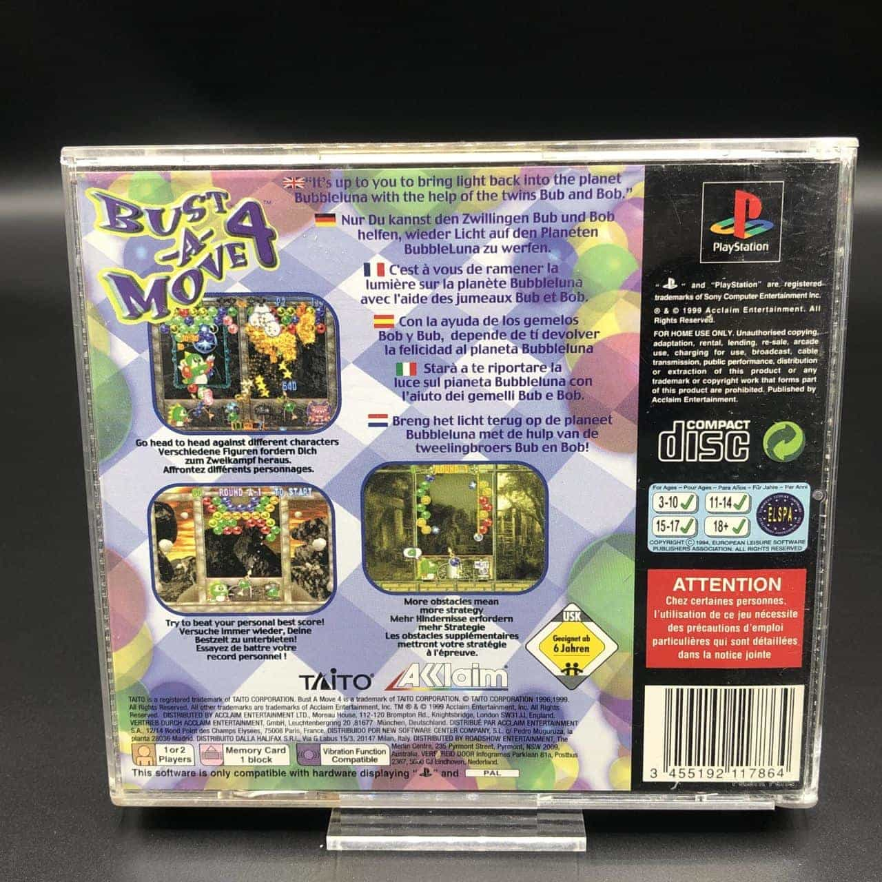 PS1 Bust-A-Move 4 (Komplett) (Gebrauchsspuren) Sony PlayStation 1