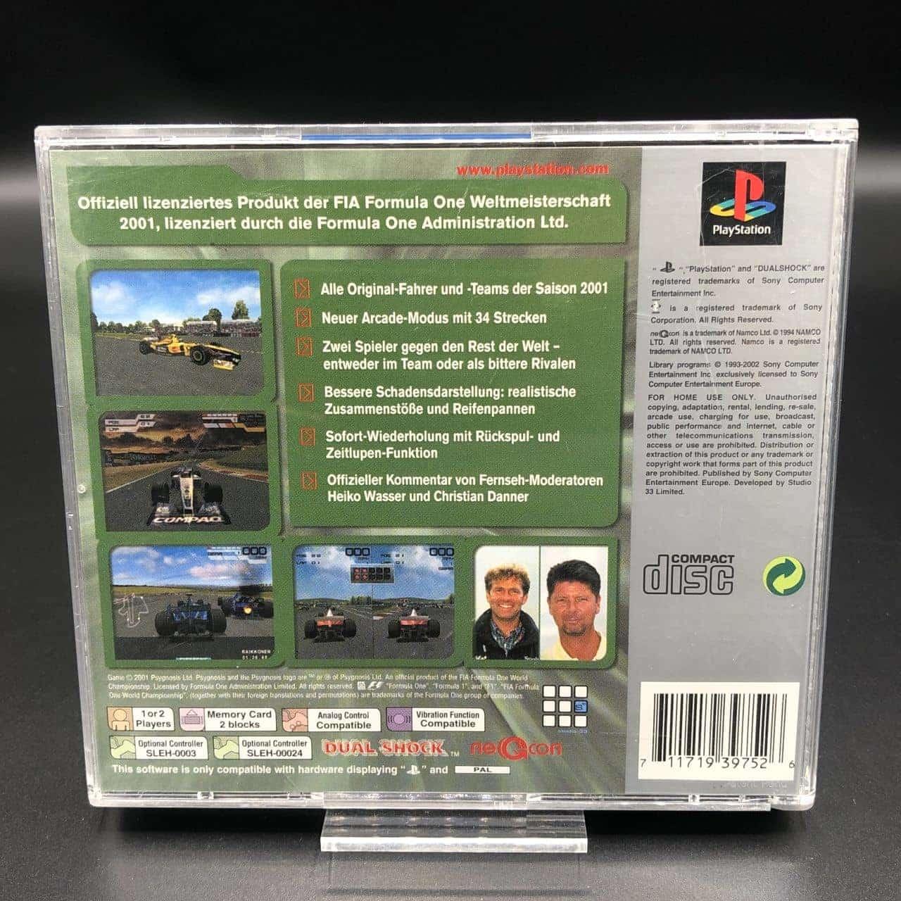 PS1 Formula One 2001 (Platinum) (Komplett) (Sehr gut) Sony PlayStation 1