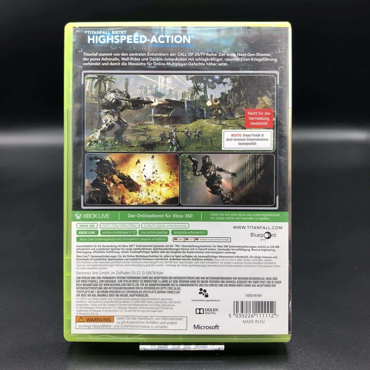 Titanfall (ohne Anleitung) (Sehr gut) XBOX 360 (FSK18)
