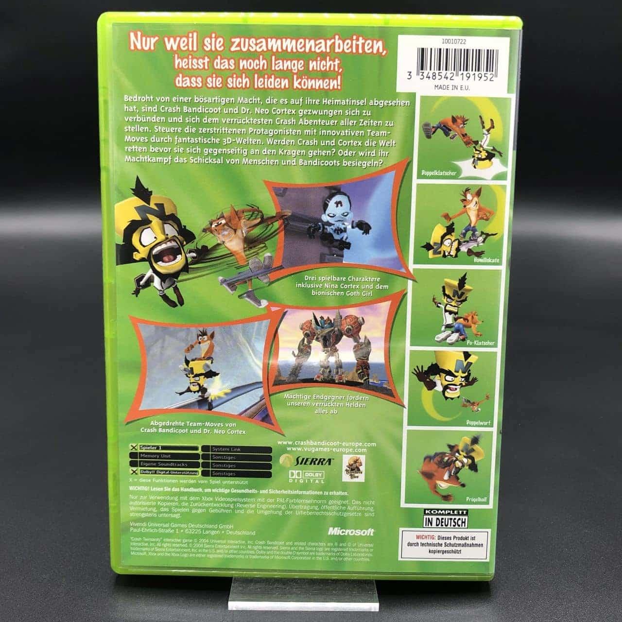 XBC Crash TwinSanity (Komplett) (Sehr gut) Microsoft Xbox Classic