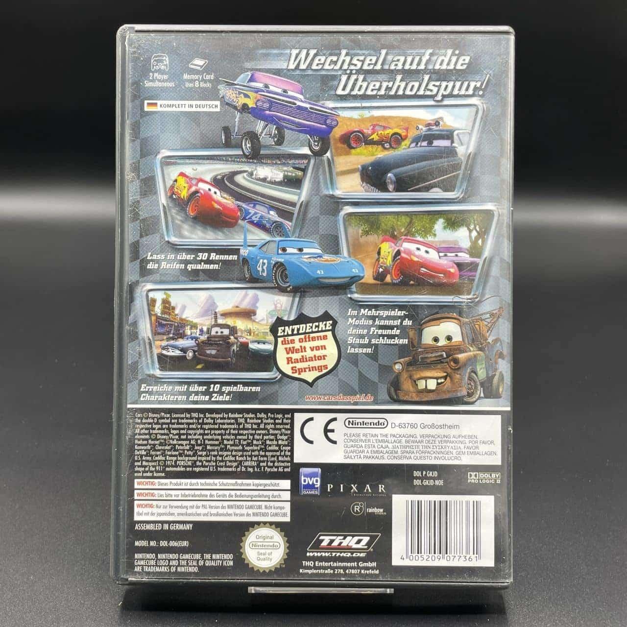 GC Disney Pixar Cars (Komplett) (Gebrauchsspuren) Nintendo GameCube