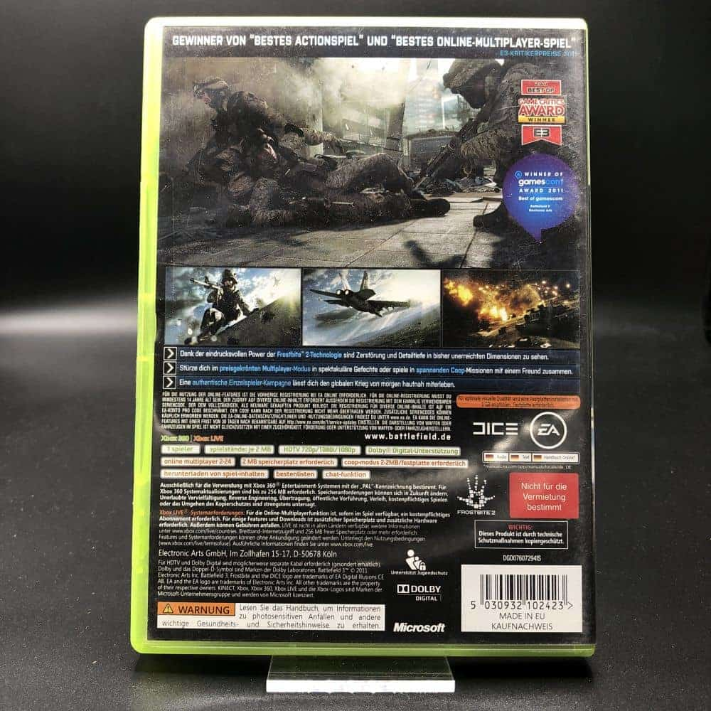 Battlefield 3 (ohne Anleitung) (Sehr gut) XBOX 360 (FSK18)