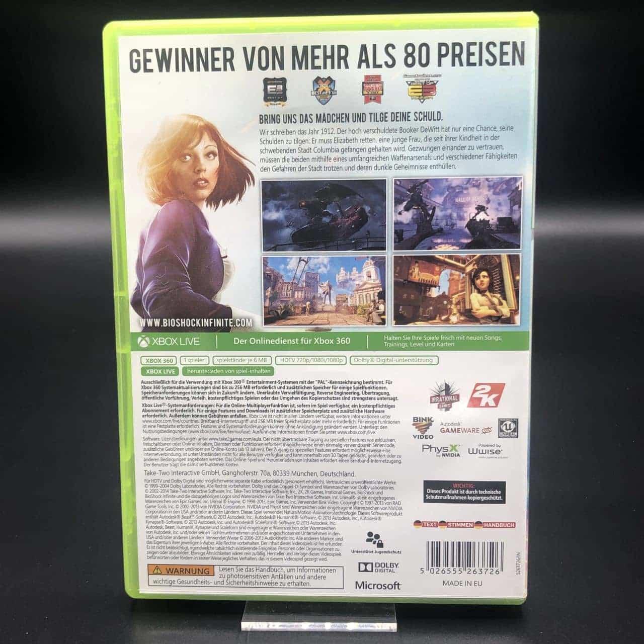 BioShock Infinite (Classics) (Komplett) (Sehr gut) XBOX 360 (FSK18)